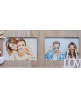 מסגרת קולאז' | ל-2 תמונות | עם כיתוב LOVE