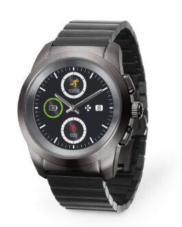ZeTIME –  שעון ספורט יוקרה חכם  לגבר בגימור טיטניום שחור שמתחבר לסמרטפון תוצרת שוויץ