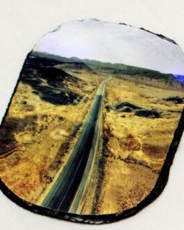 אבן בזלת אובלי עם תמונה אישית לפי בחירתכם