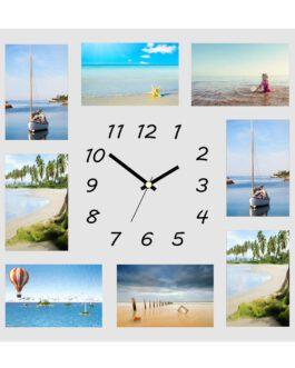 מסגרות שעון מזכוכית יוקרתית עם הוספת תמונות לבחירה אישית