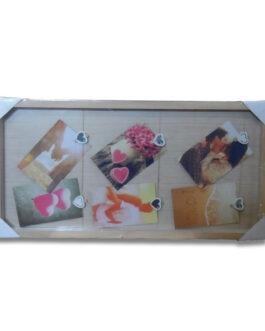 מסגרת עץ אטבים | מתאימה ל-6 תמונות