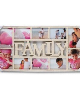 מסגרת קולאז עץ FAMILY | ל-10 תמונות