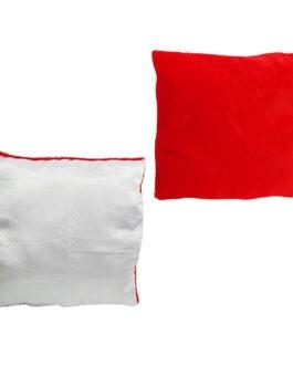 כרית ריבוע/לב אדום פרווה עם תמונה אישית לפי בחירתכם