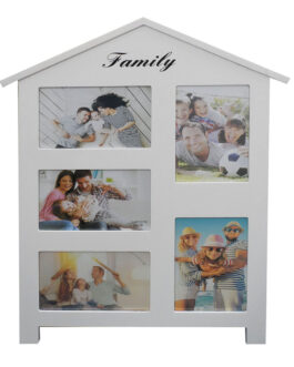מסגרת עץ בית | מתאימה ל-5 תמונות