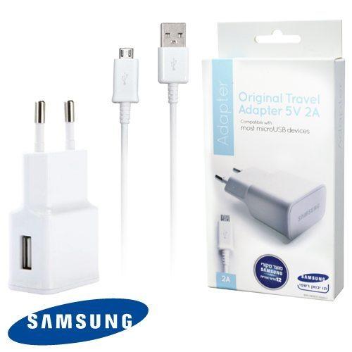 מטען קיר ראש USB מקורי סמסונג 5V 2A כולל כבל - יבואן רשמי סאני תקשורת
