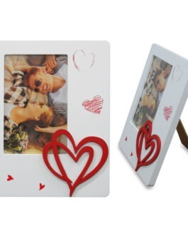 מסגרת עץ לתמונה | 10×15 | לבבות מחוברים